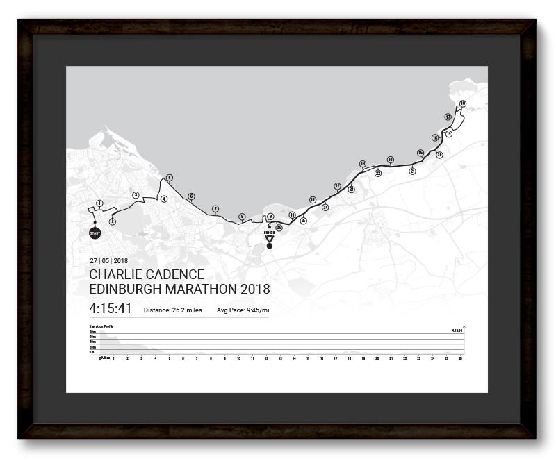 Edinburgh, Marathon Personalised Map