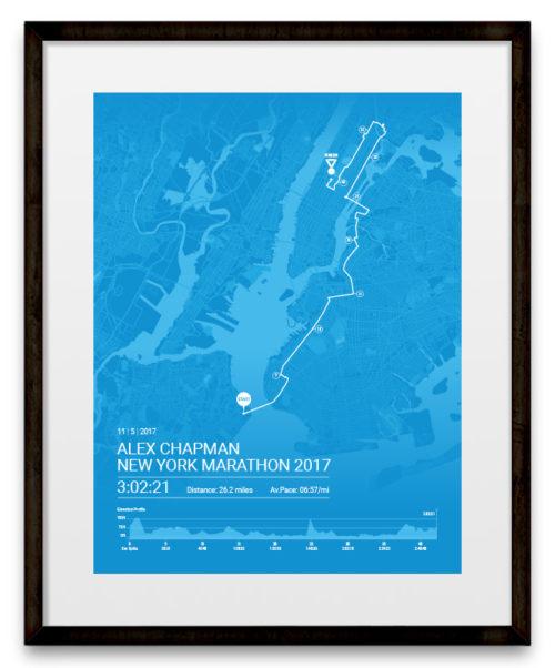 New-York-Marathon-Route-Map-Blue-Poster-framed-500x602 Chicago Marathon Map on baja 1000 map, beach to beacon map, big 12 conference map, dakar map, daytona 500 map, bolder boulder map, bay to breakers map,