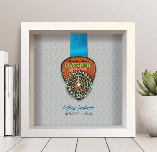 Personalised Liverpool Rock n Roll Marathon Medal Frame Runner - Art ...